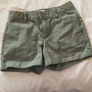 Girls size 10 cuffed shorts
